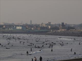 Surfers at Shonan Beach